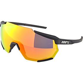 100% Racetrap Glasses soft tact black/hiper multilayer mirror